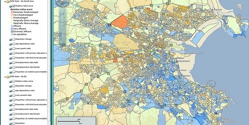 The 27 bus route has not been improved tuppenceworth blog affluence levels by neighborhood per 2006 census map by pobalps publicscrutiny Choice Image