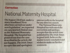 Correction: National Maternity Hospital