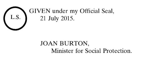 Joan Burton, Ministerial Seal